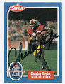 CHARLEY TAYLOR WASHINGTON REDSKINS AUTOGRAPHED VINTAGE FOOTBALL CARD #122615A