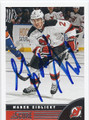 MAREK ZIDLICKY NEW JERSEY DEVILS AUTOGRAPHED HOCKEY CARD #122815C