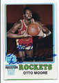 OTTO MOORE HOUSTON ROCKETS AUTOGRAPHED VINTAGE BASKETBALL CARD #122915D