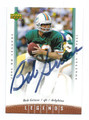BOB GRIESE MIAMI DOLPHINS AUTOGRAPHED FOOTBALL CARD #122915H