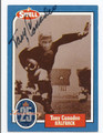TONY CANADEO GREEN BAY PACKERS AUTOGRAPHED VINTAGE FOOTBALL CARD #123015A