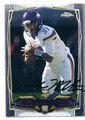 JERICK McKINNON MINNESOTA VIKINGS AUTOGRAPHED ROOKIE FOOTBALL CARD #123015G