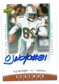 OJ McDUFFIE MIAMI DOLPHINS AUTOGRAPHED FOOTBALL CARD #123115C