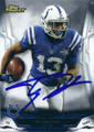 TY HILTON INDIANAPOLIS COLTS AUTOGRAPHED FOOTBALL CARD #10316B
