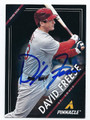DAVID FREESE ST LOUIS CARDINALS AUTOGRAPHED BASEBALL CARD #10316C