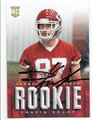 TRAVIS KELCE KANSAS CITY CHIEFS AUTOGRAPHED ROOKIE FOOTBALL CARD #10416B