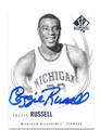 CAZZIE RUSSELL UNIVERSITY OF MICHIGAN WOLVERINES AUTOGRAPHED BASKETBALL CARD #10416D