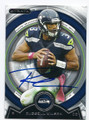 RUSSELL WILSON SEATTLE SEAHAWKS AUTOGRAPHED FOOTBALL CARD #10416J