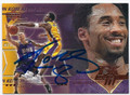 KOBE BRYANT LOS ANGELES LAKERS AUTOGRAPHED BASKETBALL CARD #10516L