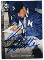 ANDY PETTITTE NEW YORK YANKEES AUTOGRAPHED ROOKIE BASEBALL CARD #10716D