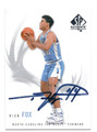 RICK FOX NORTH CAROLINA TAR HEELS AUTOGRAPHED BASKETBALL CARD #10716F