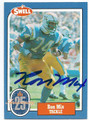 RON MIX SAN DIEGO CHARGERS AUTOGRAPHED VINTAGE FOOTBALL CARD #10916i