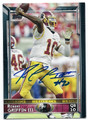 ROBERT GRIFFIN III WASHINGTON REDSKINS AUTOGRAPHED FOOTBALL CARD #11116A