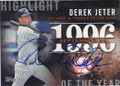 DEREK JETER NEW YORK YANKEES AUTOGRAPHED BASEBALL CARD #11116J
