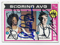 JULIUS ERVING, GEORGE McGINNIS & DAN ISSEL TRIPLE AUTOGRAPHED VINTAGE BASKETBALL CARD #11316D