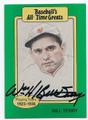 BILL TERRY NEW YORK GIANTS FIRST BASEMAN AUTOGRAPHED VINTAGE BASEBALL CARD #11416i