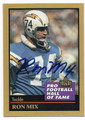 RON MIX SAN DIEGO CHARGERS AUTOGRAPHED FOOTBALL CARD #11616E