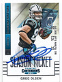 GREG OLSEN CAROLINA PANTHERS AUTOGRAPHED FOOTBALL CARD #11616L