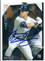 JACOBY ELLSBURY NEW YORK YANKEES AUTOGRAPHED BASEBALL CARD #11716A