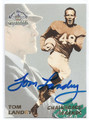 TOM LANDRY NEW YORK GIANTS & DALLAS COWBOYS AUTOGRAPHED FOOTBALL CARD #11716E
