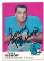 SONNY BISHOP HOUSTON OILERS AUTOGRAPHED VINTAGE FOOTBALL CARD #11716K