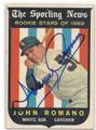 JOHN ROMANO CHICAGO WHITE SOX AUTOGRAPHED VINTAGE