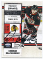 DUNCAN KEITH CHICAGO BLACKHAWKS AUTOGRAPHED HOCKEY CARD #11816i