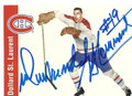 DOLLARD ST. LAURENT MONTREAL CANADIENS AUTOGRAPHED HOCKEY CARD #11916C