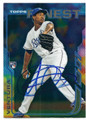 YORDANO VENTURA KANSAS CITY ROYALS AUTOGRAPHED ROOKIE BASEBALL CARD #11916i