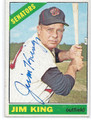 JIM KING WASHINGTOM SENATORS AUTOGRAPHED VINTAGE BASEBALL CARD #11916J