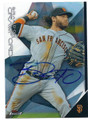BRANDON CRAWFORD SAN FRANCISCO GIANTS AUTOGRAPHED BASEBALL CARD #12016A