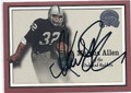 MARCUS ALLEN OAKLAND RAIDERS AUTOGRAPHED FOOTBALL CARD #12016D