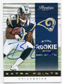 BRIAN QUICK LOS ANGELES RAMS AUTOGRAPHED ROOKIE FOOTBALL CARD #12116E