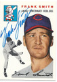 FRANK SMITH CINCINNATI REDLEGS AUTOGRAPHED BASEBALL CARD #12116J