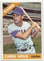CHRIS KRUG CHICAGO CUBS AUTOGRAPHED BASEBALL CARD #12116K