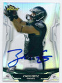 ZACH ERTZ PHILADELPHIA EAGLES AUTOGRAPHED FOOTBALL CARD #12216C