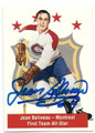 JEAN BELIVEAU MONTREAL CANADIENS AUTOGRAPHED HOCKEY CARD #12216F
