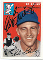 ED BAILEY CINCINNATI REDLEGS AUTOGRAPHED BASEBALL CARD #12216H