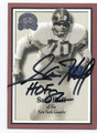 SAM HUFF NEW YORK GIANTS AUTOGRAPHED FOOTBALL CARD #12216L