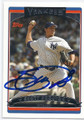 SCOTT PROCTOR NEW YORK YANKEES AUTOGRAPHED BASEBALL CARD #12316D