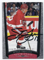 STEVE YZERMAN DETROIT RED WINGS AUTOGRAPHED HOCKEY CARD #12416E