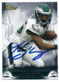 LeSEAN MCCOY PHILADELPHIA EAGLES AUTOGRAPHED FOOTBALL CARD #12416G