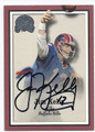 JIM KELLY BUFFALO BILLS AUTOGRAPHED FOOTBALL CARD #12416J