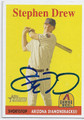 STEPHEN DREW ARIZONA DIAMONDBACKS AUTOGRAPHED BASEBALL CARD #12416K