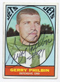 GERRY PHILBIN NEW YORK JETS AUTOGRAPHED VINTAGE FOOTBALL CARD #12516B