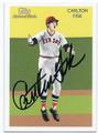 CARLTON FISK BOSTON RED SOX AUTOGRAPHED BASEBALL CARD #12516E