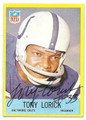 TONY LORICK BALTIMORE COLTS AUTOGRAPHED VINTAGE FOOTBALL CARD #12516F