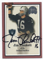 JIM PLUNKETT OAKLAND RAIDERS AUTOGRAPHED FOOTBALL CARD #12516G