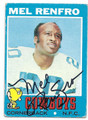 MEL RENFRO DALLAS COWBOYS AUTOGRAPHED VINTAGE FOOTBALL CARD #12516i