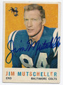 JIM MUTSCHELLER BALTIMORE COLTS AUTOGRAPHED VINTAGE FOOTBALL CARD #12516J